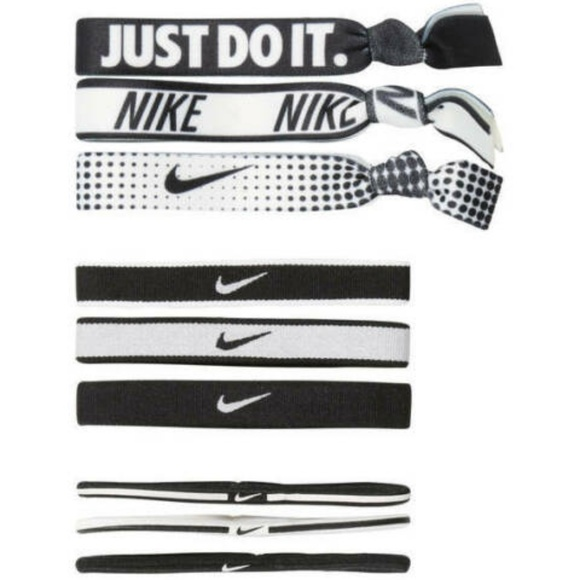 Nike Accessories - NIKE Mixed Ponytail Holder 9Pack One Size Fits All